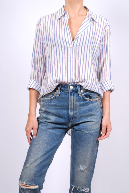 Xirena Striped Lawn Beau Shirt - Regent