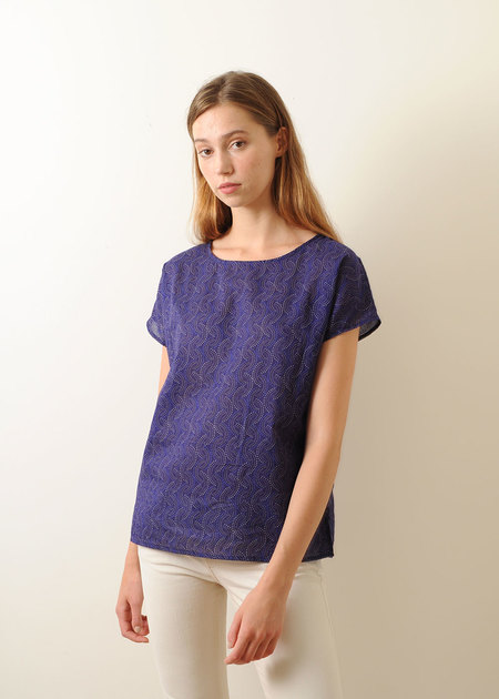 Conifer Woven Top - Violet Print