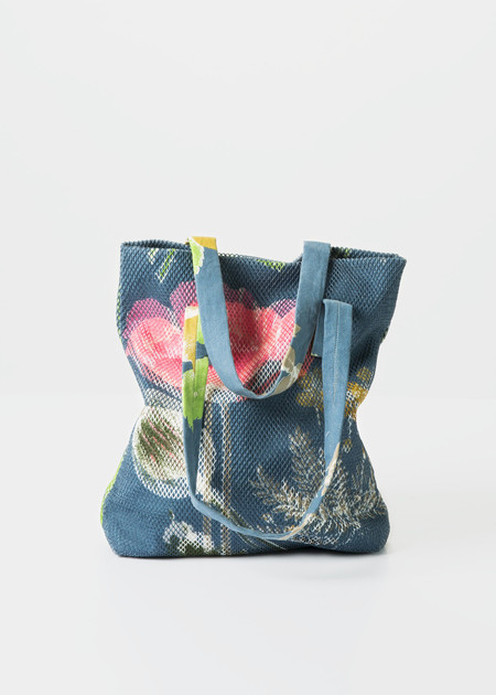 Epice Canvas and Mesh Flower Tote