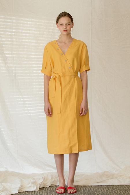 A.A Dora wrap Dress - Yellow