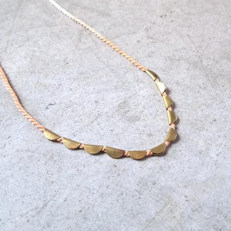 Takara Lunar Necklace in Blush
