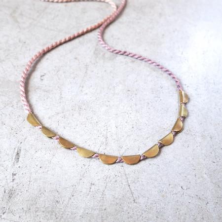 Takara Lunar Necklace in Lavendar