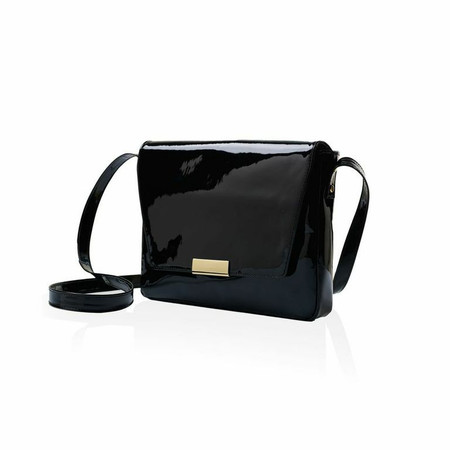 Marie Turnor Club Bag — Black Patent Leather