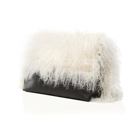 Marie Turnor The Big Fur Clutch - Black & White