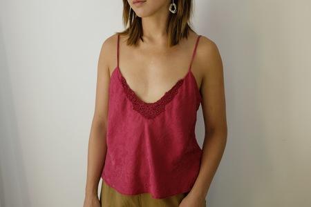 Hey Jude Vintage Berry Silk Camisole
