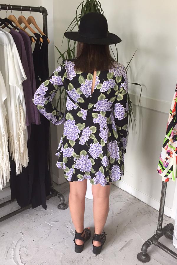 Hydrangea Long Sleeve Dress