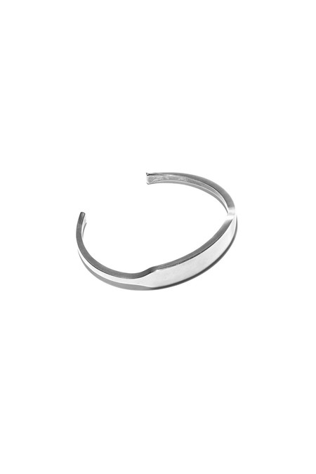 Giles & Brother Silver Oxide ID Cuff