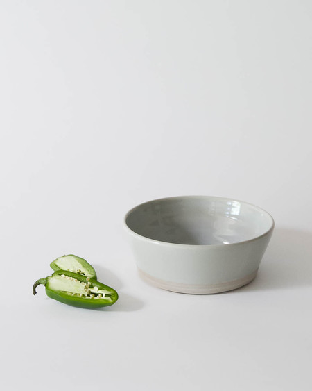 WRF Porcelain Serving Bowl in Grey Gloss