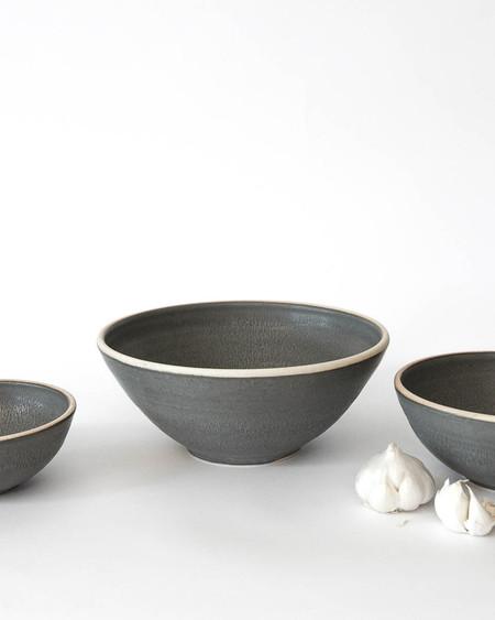 Sheldon Ceramics Charcoal Silverlake Mixing Bowls