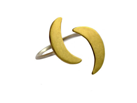 Natalie Joy Crescent Moon Floating Ring