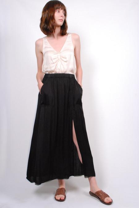 Raquel Allegra Ribbon Maxi Skirt - Black