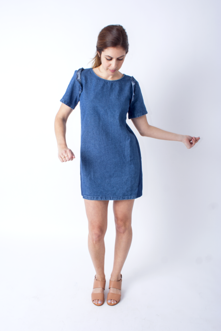 Loup Alicia Dress - Blue Denim