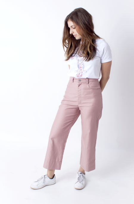 Dusen Dusen High Waisted Pants - Solid Rose