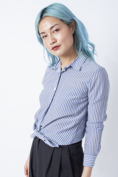 Steven Alan Reverse Seam Shirt - White Blue Stripe