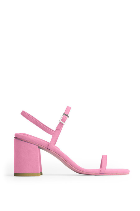 Rafa Vegan Suede Simple Sandal - Peony