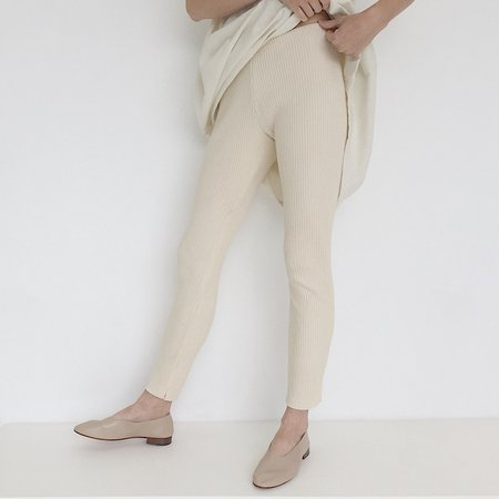 Laurs Kemp Ivory Ribbed Legging