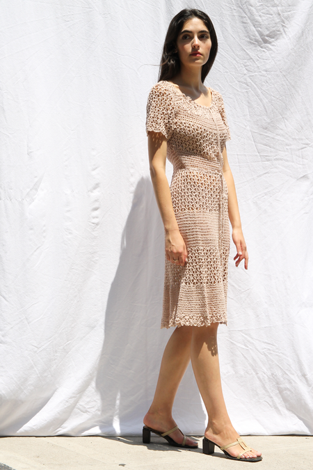 DUO NYC VINTAGE NUDE KNIT DRESS