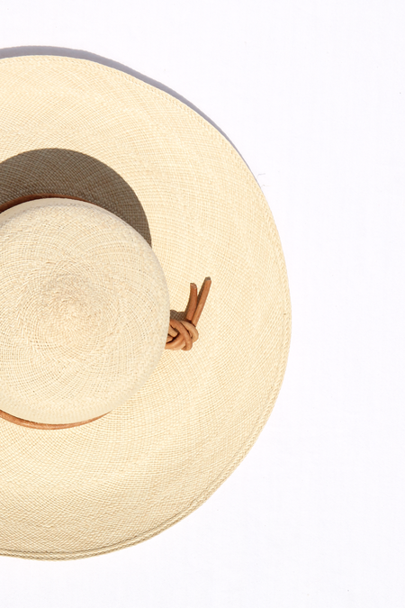 BROOKES BOSWELL CANNA STRAW HAT