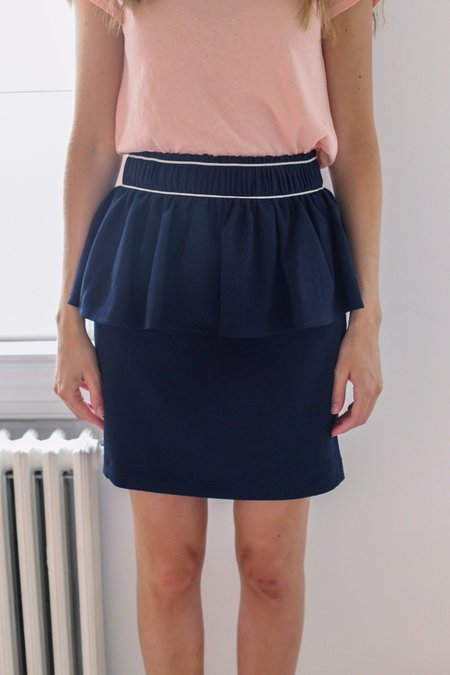 Ganni Clark Skirt - Total Eclipse
