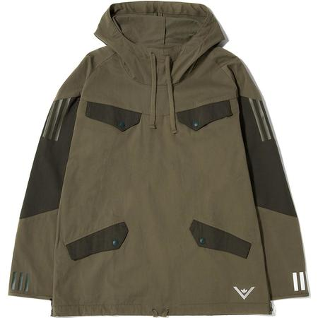 ADIDAS ORIGINALS BY WHITE MOUNTAINEERING PULLOVER JACKET - TRACE OLIVE