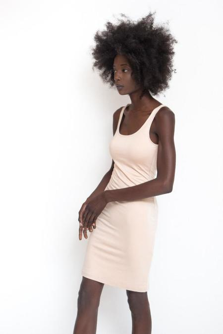 BLQ Basiq Fitted Midi Dress - Flesh
