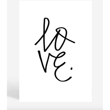 Blacklist : Love Graffiti Print
