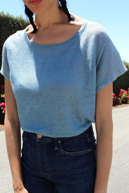 Beklina Linen T Shirt Ocean