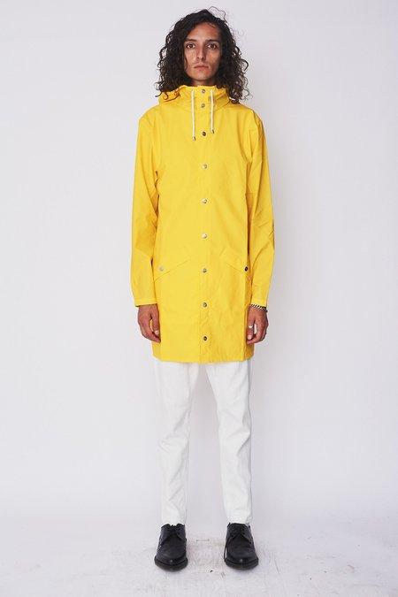 Rains Hooded Rain Long Jacket - Yellow