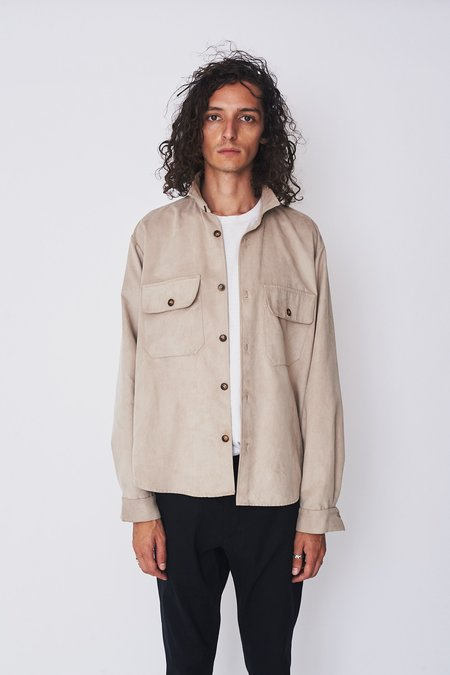 Assembly New York Ultra Suede Poet Shirt
