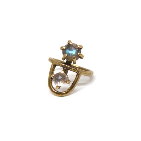 Laurel Hill Jewelry Arche Ring - Labradorite & Rose Quartz