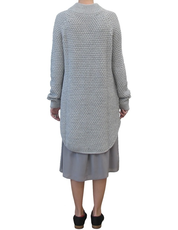 Ali Golden RICE-STITCH SWEATER DRESS | Golden