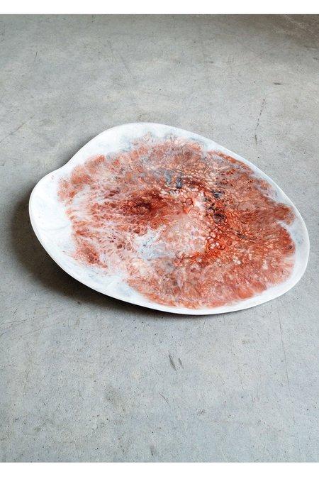 Dinosaur Designs Organic Leaf Platter in Rock Swirl