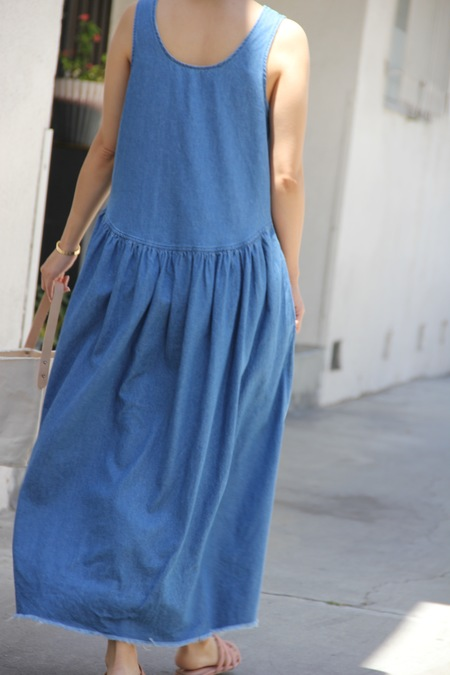 VIA DENIM MAXI DRESS