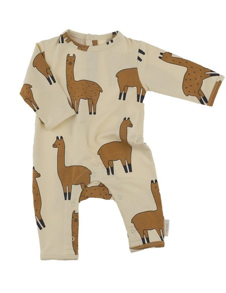 Kid's Tiny Cottons LLAMA PRINT ONE PIECE - BEIGE