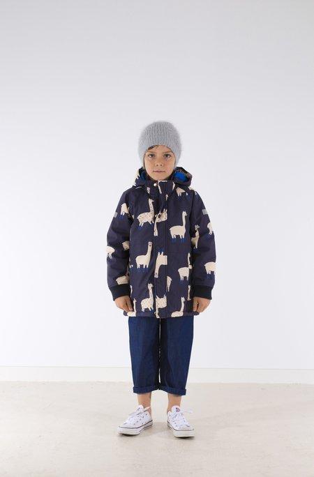 Kid's Tiny Cottons LLAMA PRINT SNOW JACKET - NAVY