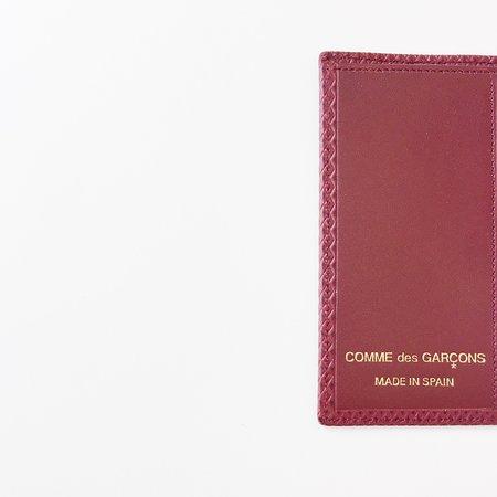 Comme des Garçons Luxury Group Small Card Case - Burgundy
