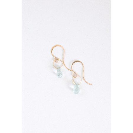 Melissa Joy Manning Small Aquamarine Drop Earrings
