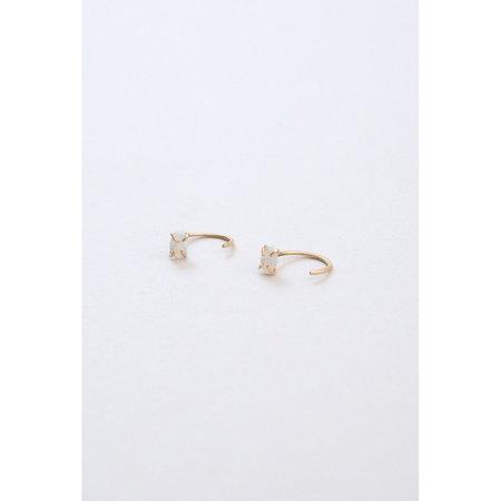 Melissa Joy Manning White Opal Hugger Earrings