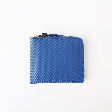 Comme des Garçons Luxury Group Small Blue Half Zip Around Wallet