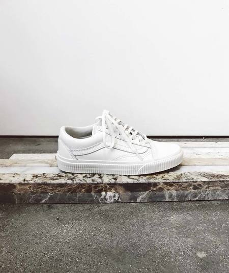 VANS Embossed Leather Old Skool Sneakers - White