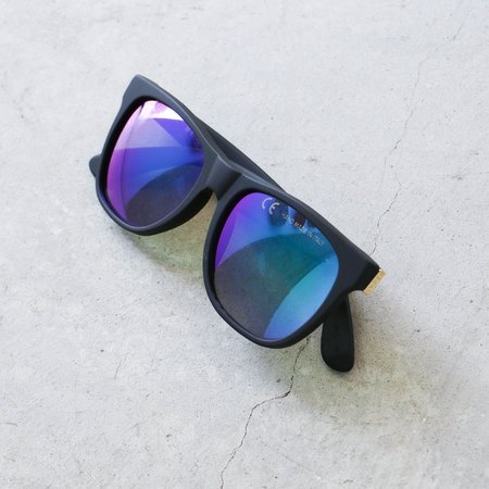 RetroSuperFuture Classic Sunglasses in Matte Black Flash