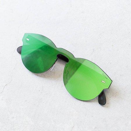 RetroSuperFuture Tuttolente Paloma Sunglasses in Green