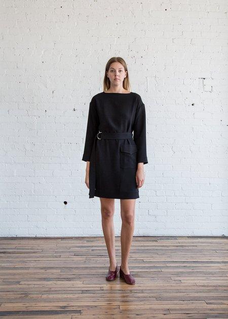 Nomia Belted Pocket Dress Black