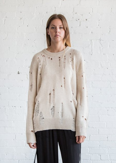 Raquel Allegra Oversized Pullover Oatmeal