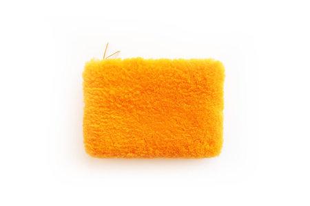 Primecut Cheeto Orange Sheepskin Clutch