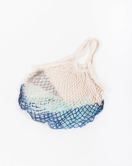 F&F Market net tote bag in aegean blue
