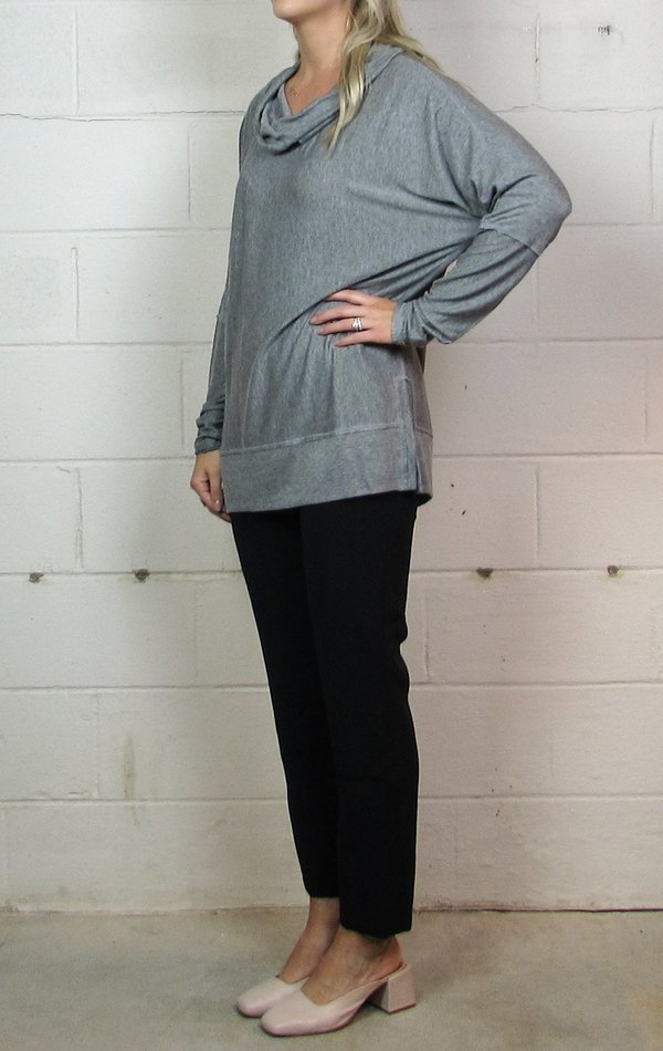 Heather cowl neck pullover