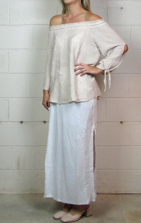 Heather janet linen wrap skirt
