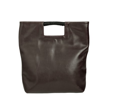 Oliveve Reid Wrap Handle Tote in Black Atlantic Cow Leather