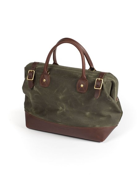 Wood&Faulk Carpenter Bag - Balmoral Moss
